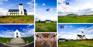 Skálholt and its cathedral Royalty Free Stock Images