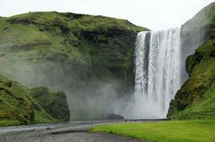 Skógafoss waterfall on Iceland Royalty Free Stock Photos