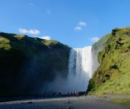 The Skógafoss waterfall royalty free stock images