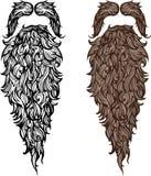 Skägg och mustasch royaltyfri illustrationer