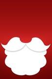 Skägget av Santa Claus på en röd bakgrund Royaltyfria Bilder