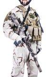 Skäggig special krigoperatör Arkivbilder