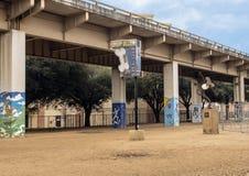 Skället parkerar centralen, djupa Ellum, Texas Arkivfoto