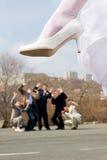 skämtbröllop Arkivbild