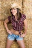 skämtsam cowgirl Fotografering för Bildbyråer