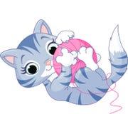 Skämtsam kattunge royaltyfri illustrationer