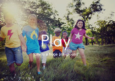Skämtsam rolig fritidsaktivitet Joy Recreational Pursuit Conce för lek royaltyfri foto