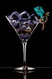 skära i tärningar glass is Royaltyfri Bild