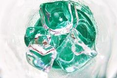 skära i tärningar glass is Royaltyfria Bilder