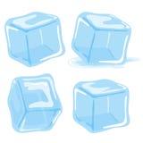 skära i tärningar issmältning stock illustrationer