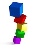 Skära i tärningar logo Arkivfoto