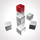 Skära i tärningar logoen Stock Illustrationer