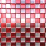 skära i tärningar röd white Royaltyfria Bilder