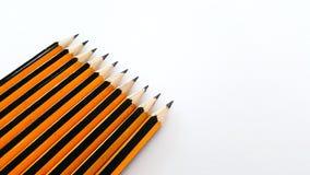 Skärm av blyertspennauppsättningen Arkivbild