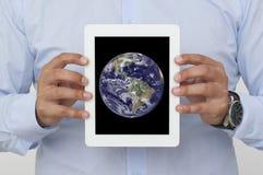 Skärm av en digital minnestavla Arkivfoto