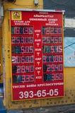 Skärm av valutautbytet Fotografering för Bildbyråer