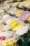 skärm blommar nycgatasäljaren Arkivbilder