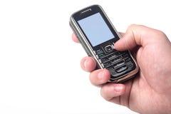 skärm för bana för incl för mobiltelefonclippinghand arkivbilder