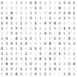 Skärm för binär kod royaltyfri fotografi
