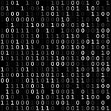 Skärm för binär kod arkivbild