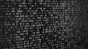 Skärm för binär kod royaltyfri illustrationer