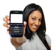 Skärm för celltelefon Arkivbild