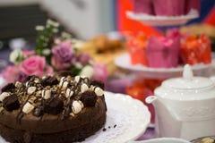 Skärm för chokladkaka Royaltyfri Fotografi