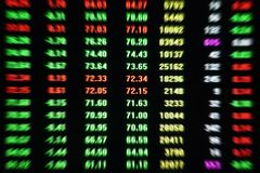 Skärm för data för pris för handel för aktiemarknadsaktiemarknad arkivfoto