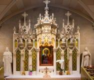 Skärm för domkyrka för St Patrick's inre Arkivbild