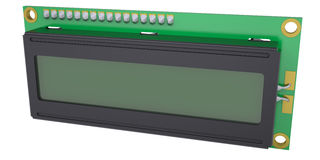Skärm för LCD-teckenenhet Arkivfoto