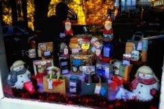 Skärm för Shrewsbury julfönster royaltyfri bild