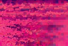Skärm för tekniskt fel för Digital oväsenbakgrund, geometrisk distorsion stock illustrationer