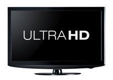 skärm för television 4K Arkivfoto
