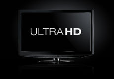 skärm för television 4K Royaltyfri Fotografi