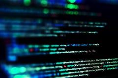 Skärm med kod för programvarubärare Suddighet lampor Arkivbilder