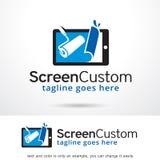 Skärmegen Logo Template Design Vector Fotografering för Bildbyråer