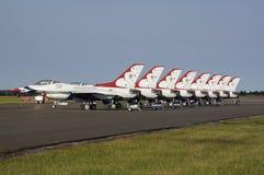 Skärmlag för U.S.A.F. Thunderbird Fotografering för Bildbyråer