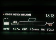 Skärmskärm för hybrid- bil Royaltyfri Foto
