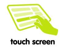 skärmtouch Fotografering för Bildbyråer