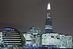 Skärvan i London på natt 003 Arkivfoton