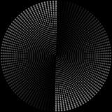 Skład round szarzy koraliki na czarnym tle n royalty ilustracja