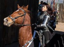 Skådespelare på den Arizona renässansfestivalen royaltyfri foto