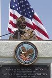 Skådespelare-veteran James McEachin som talar på den årliga minnes- händelsen Los Angeles för nationell kyrkogård, Maj 26, 2014,  Royaltyfria Foton