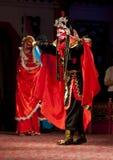 Skådespelarear av den Sichuan operan Troup Arkivfoton