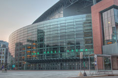 Skåpbil andel Arena i Grand Rapids Michigan Arkivbild