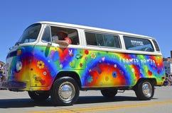 skåpbil eller buss för 60 ` s Volkswagon Royaltyfri Bild