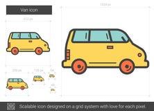 Skåpbillinje symbol stock illustrationer