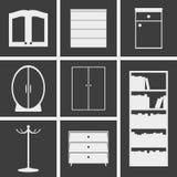 Skåpsymboler vektor illustrationer