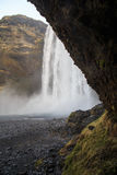 Skógafoss瀑布在南冰岛 库存图片