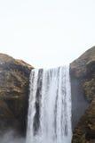 Skógafoss vattenfall i sydliga Island Arkivfoto